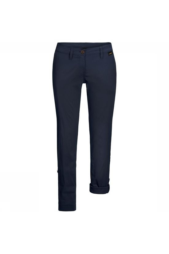 Jack Wolfskin Trousers Desert Roll-Up Short Navy Blue
