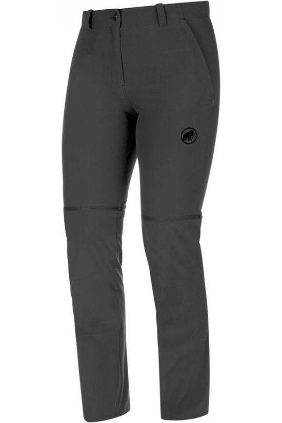 Mammut Trousers Runbold Zip Off Regular dark grey