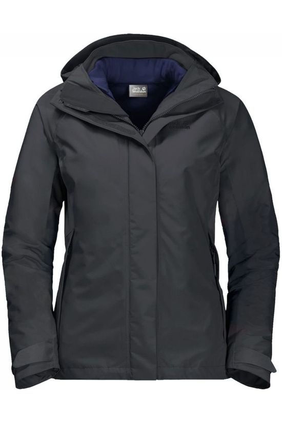 Jack Wolfskin Coat Iceland Voyage 3In1 dark grey/purple