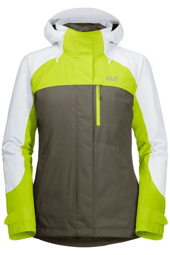 Jack Wolfskin Coat Whitney Peak 3In1 Taupe/Lime Green