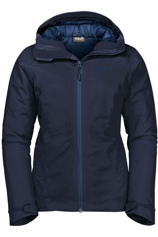 Jack Wolfskin Coat Argon Storm Navy Blue