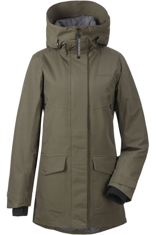 Didriksons 1913 Coat Frida dark khaki