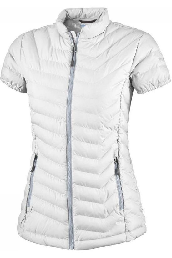 Columbia Bodywarmer Powder Lite Cap Sleeve Jacket white