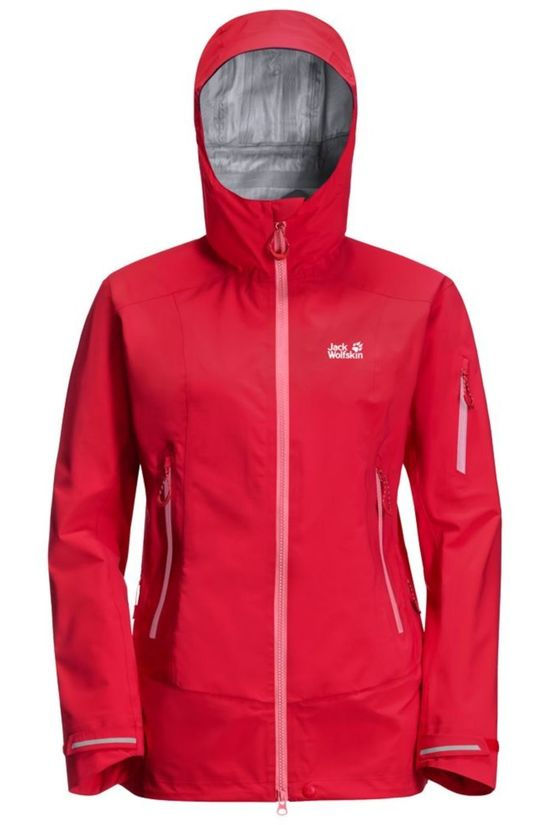 Jack Wolfskin Coat Exolight Pro red/mid pink