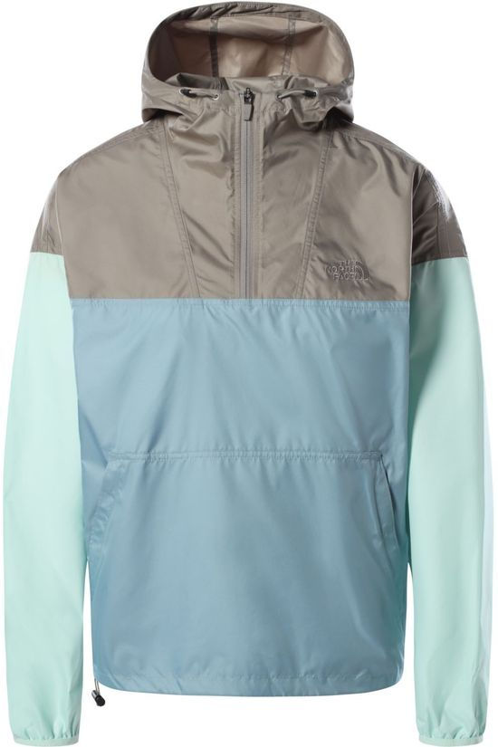 The North Face Coupe-Vent Cyclone Pullover Brun Sable/Bleu Clair