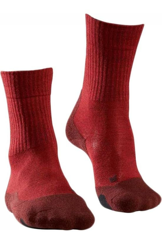 Falke Sock TK2 Wool Wms dark red/mid grey