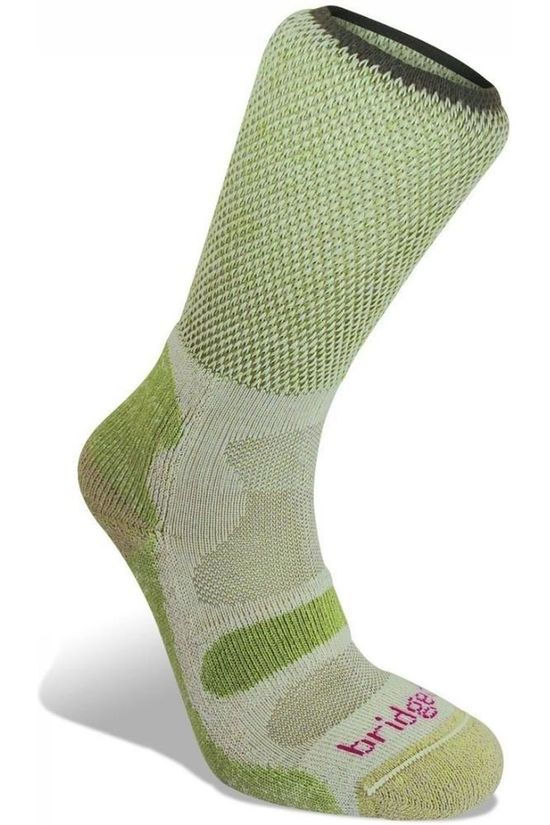 Bridgedale Sock Hike Cotton Cool Comfort Lightweight mid green