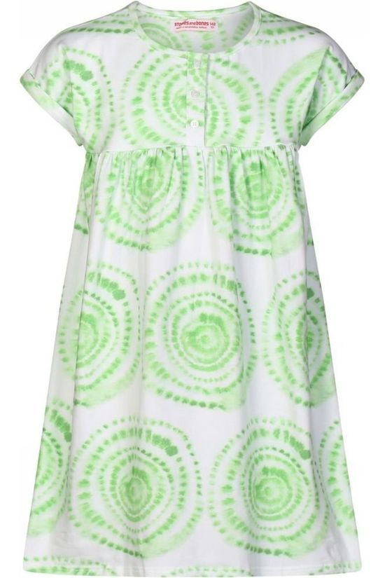 Stones and Bones Dress Sunny Tie Dye Dots green/white