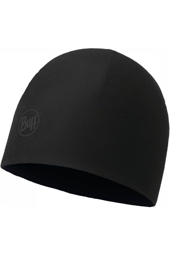 Buff Bonnet Polar Thermal Hat Solid Graphite Black black