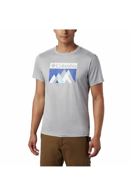 Columbia T-Shirt Zero Rules Gris Clair/Bleu