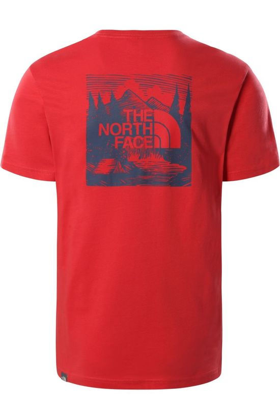 The North Face T-Shirt M S/S Redbox Celebtration Tee Rouge Moyen