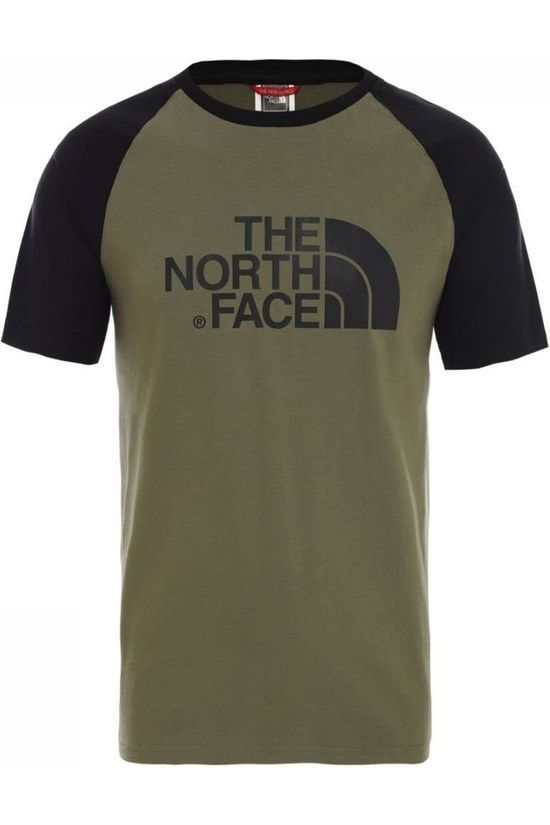 The North Face T-Shirt Raglan Easy Middenkaki/Geen kleur
