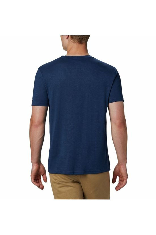 Columbia T-Shirt Nelson Point Graphic dark blue/red