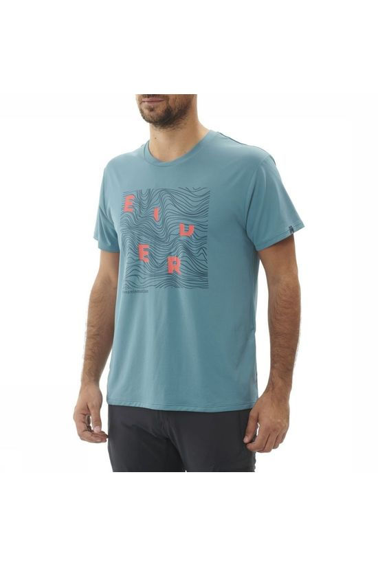 Eider T-Shirt Stream blue/orange