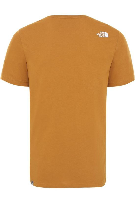 The North Face T-Shirt Nse Donkergeel/Zwart