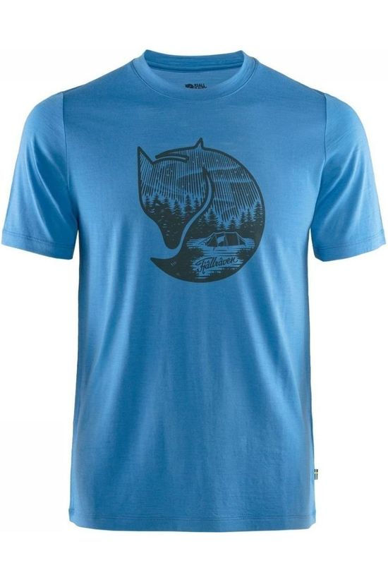Fjällräven T-Shirt Abisko Wool Fox blue
