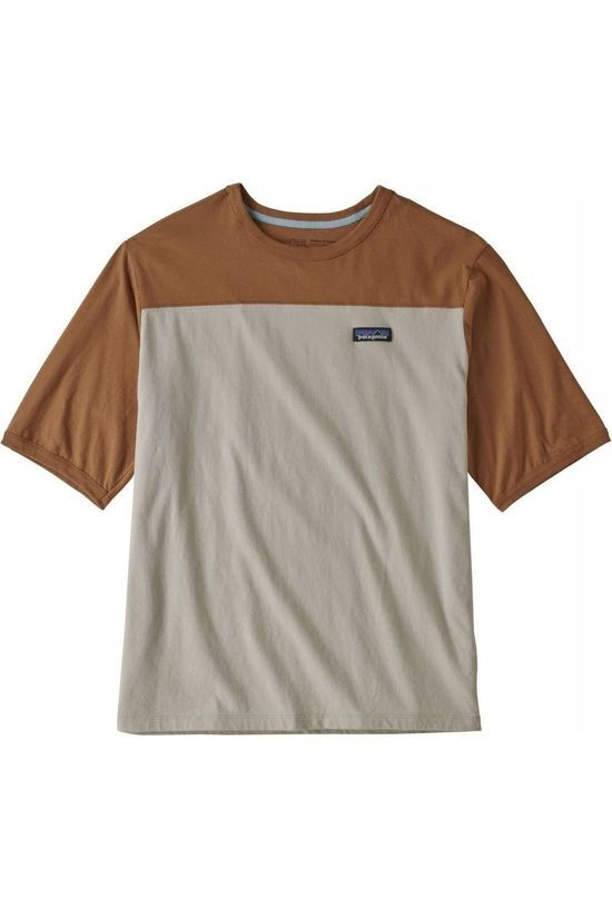 Patagonia T-Shirt Cotton In Conversion Ecru/Mid Brown