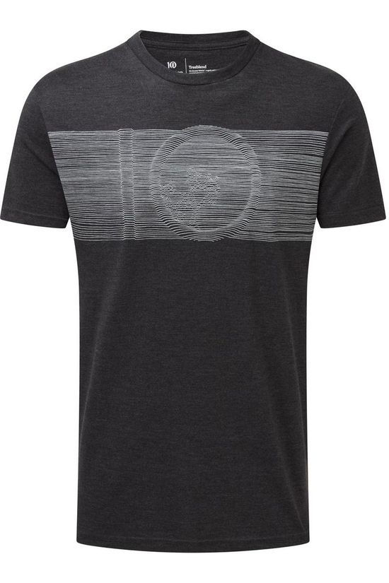 Tentree T-Shirt Topographic Classic dark grey