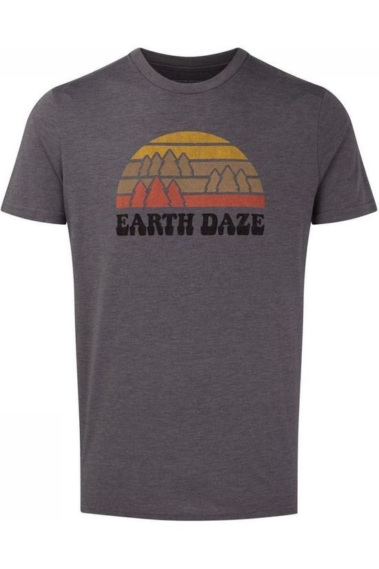 Tentree T-Shirt Earth Daze Classic Donkergrijs