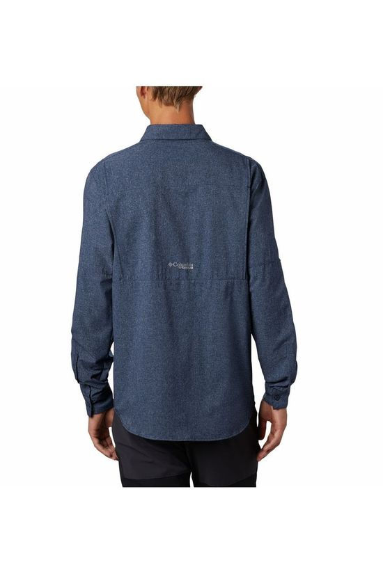 Columbia Shirt Irico Men's Long Navy Blue