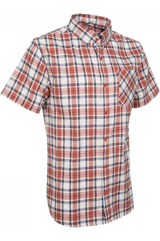 United by Blue Hemd Kintyre Ss Plaid Button Down Rood/Ecru