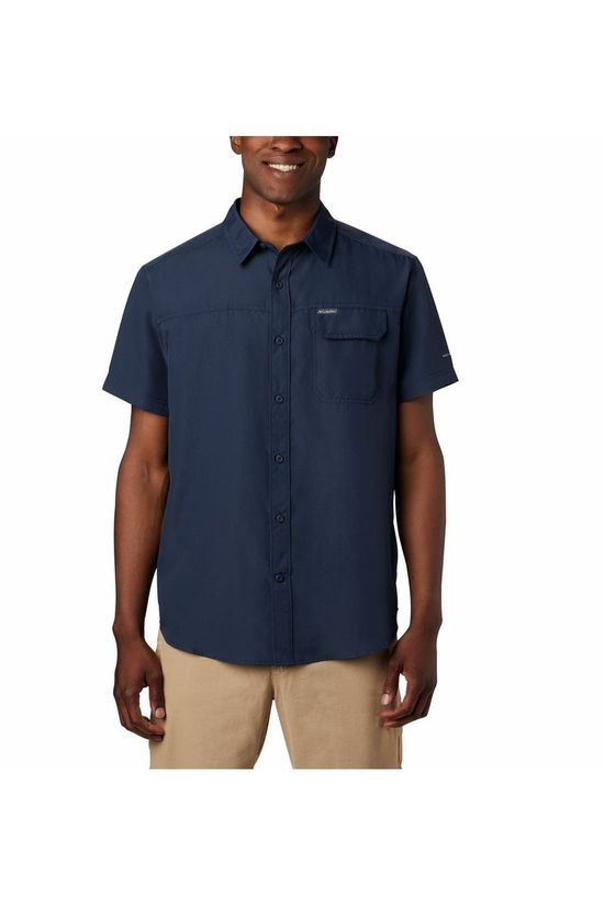 Columbia Shirt Smith Creek Woven Navy Blue