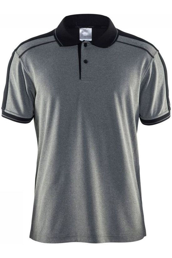 Craft Polo Noble Polo Pique Dark Grey Marle