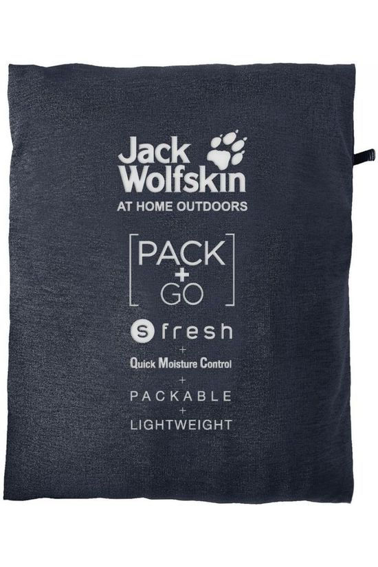 Jack Wolfskin Polo JWP Pack And Go! Marineblauw