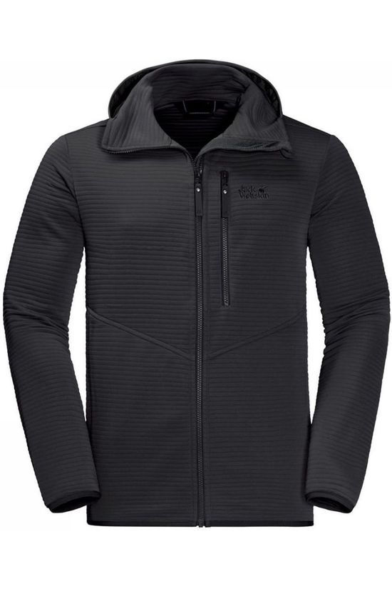 Jack Wolfskin Fleece Modesto Hooded Zwart