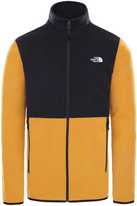 The North Face Fleece Tka Glacier Fz Donkergeel/Zwart