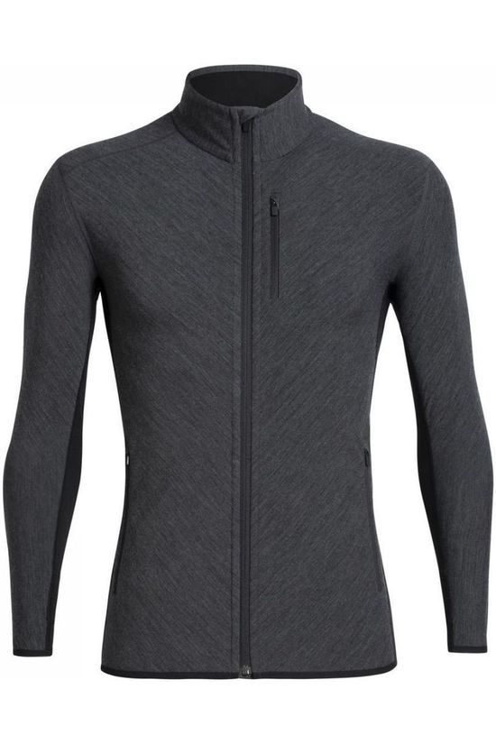 Icebreaker Fleece Descender LS Zip black