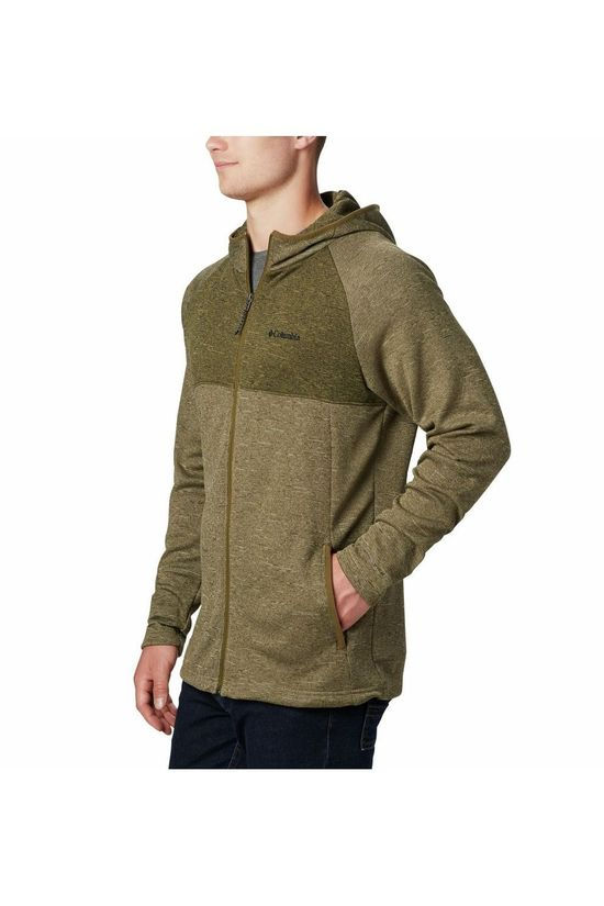Columbia Fleece Maple Lake Full Zip Hoodie Middenkaki/Donkerkaki