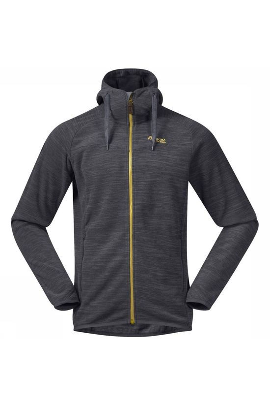 Bergans Fleece Hareid dark grey/yellow