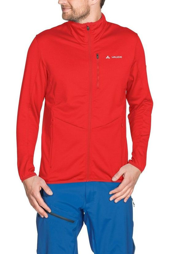 Vaude Fleece Back Bowl Fleece Fz red