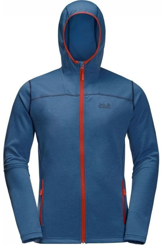 Jack Wolfskin Fleece Horizon Hooded Middenblauw