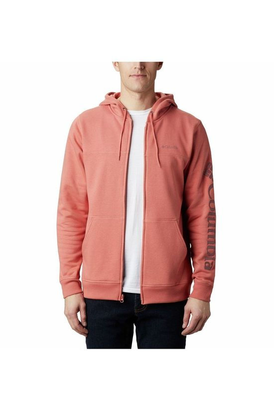 Columbia Fleece Logo Fz Rood