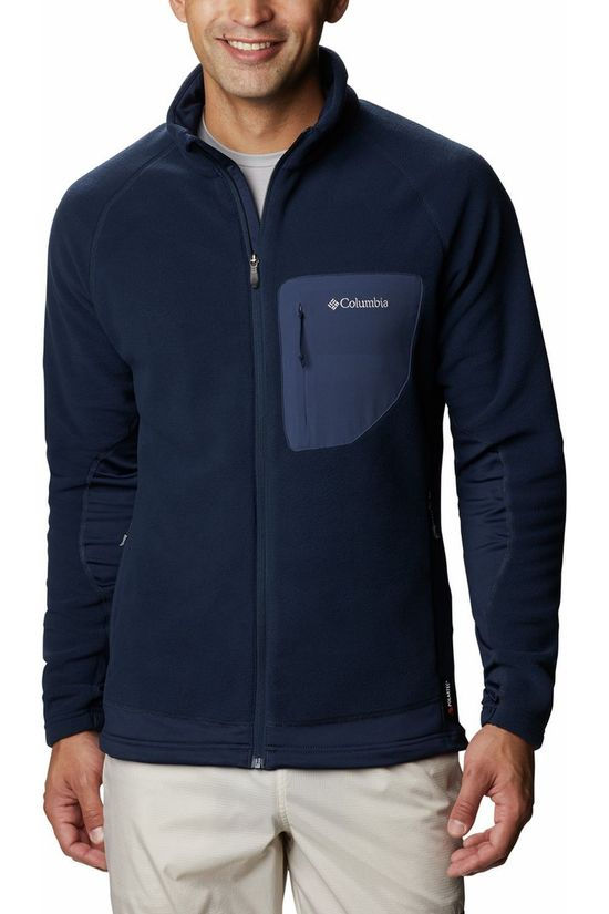 Columbia Fleece Polar Powder Full Zip Jacket Marineblauw