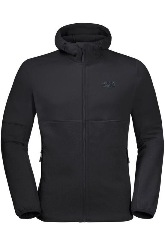 Jack Wolfskin Fleece Hydro Hooded II black