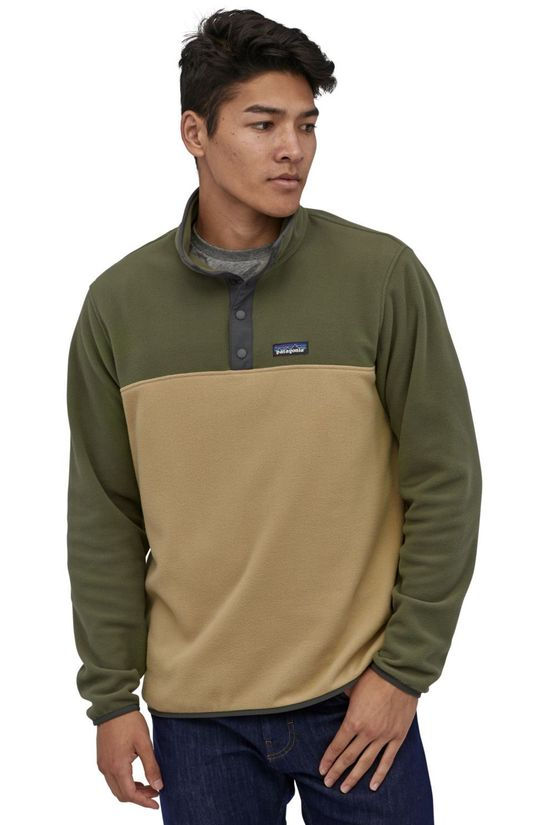 Patagonia Pullover Micro D Snap-T P/O Sand Brown/Mid Khaki