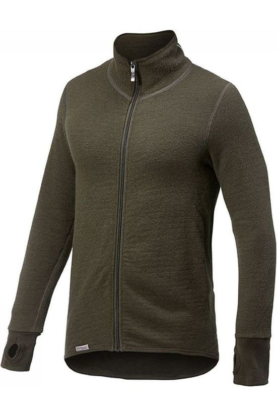 Woolpower Pullover Full Zip Jacket 400 (unisex midlayer) dark green