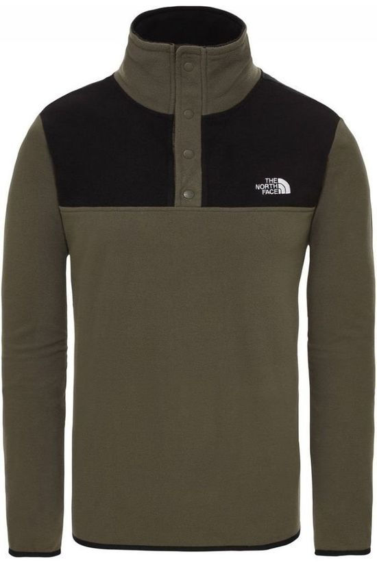 The North Face Pullover Tka Glacier Snap-Neck dark khaki/black