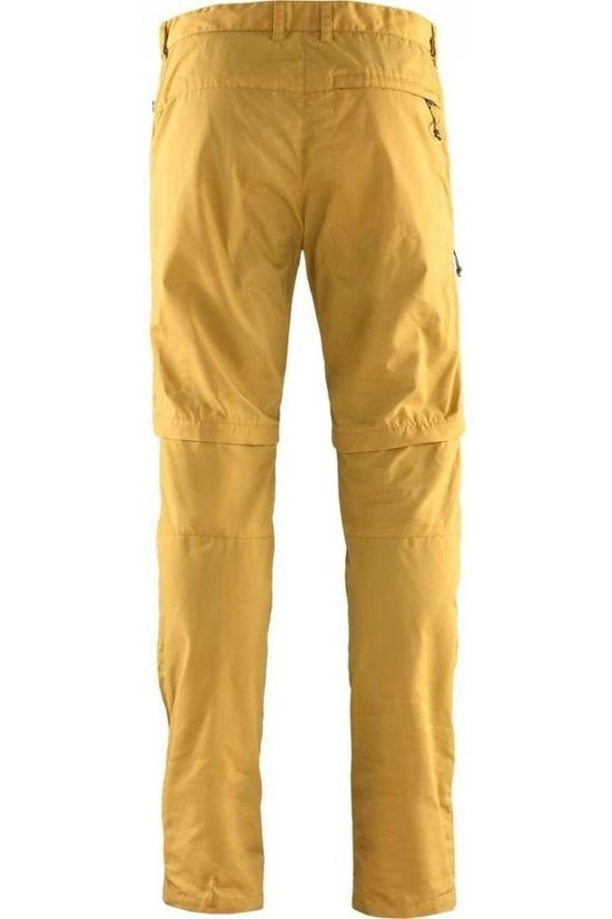 Fjällräven Trousers High Coast Zip-Off dark yellow