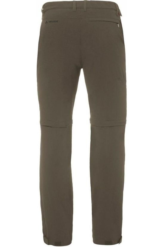 Vaude Broek Farley Stretch T-Zip II Middenkaki