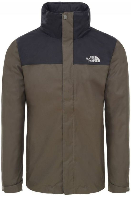 The North Face Jas Evolve II Triclimate Donkerkaki/Zwart