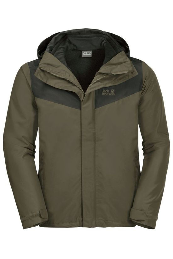 Jack Wolfskin Coat Arland 3In1 Taupe/Black