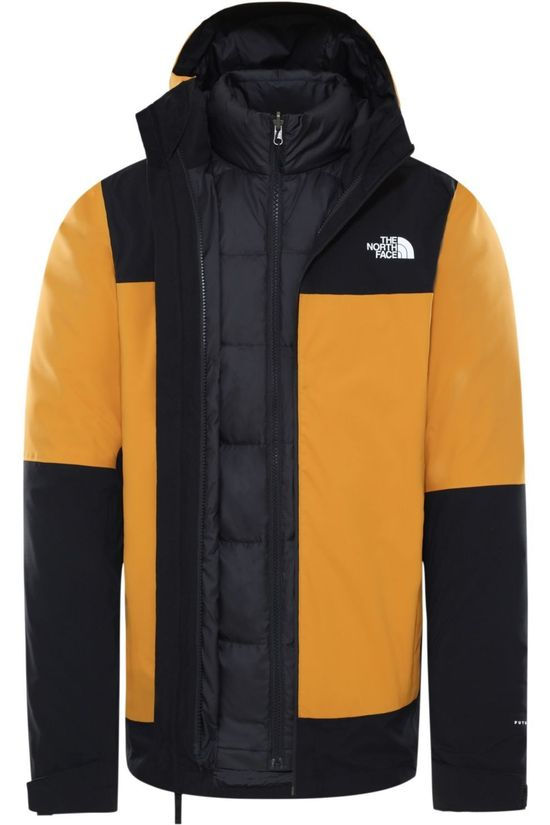 The North Face Jas Mountain Light Futurelight Triclimate Donkergeel/Zwart