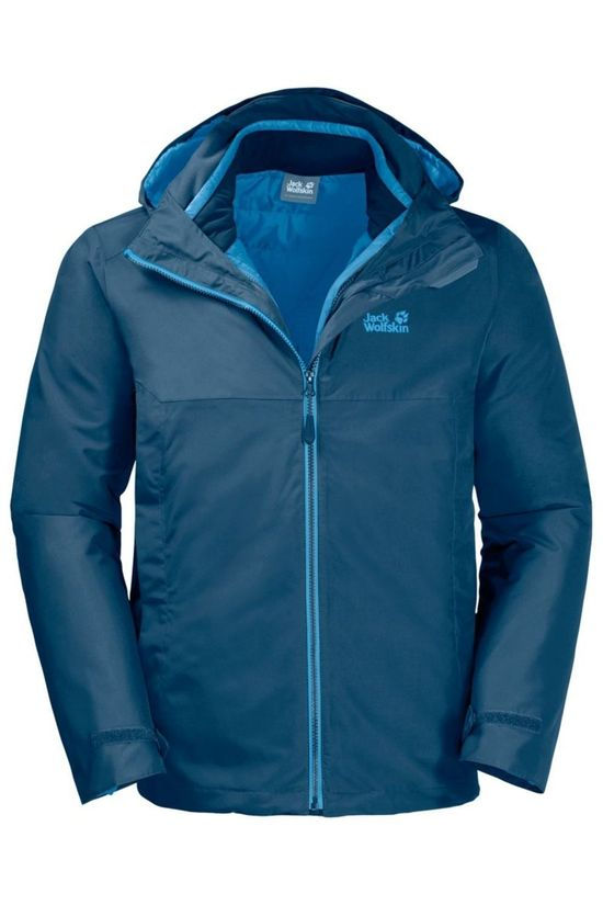 Jack Wolfskin Jas North Fjord 3In1 Blauw
