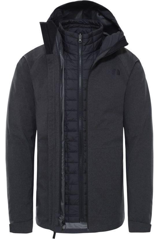 The North Face Manteau Thermoball Eco Triclimate Gris Foncé