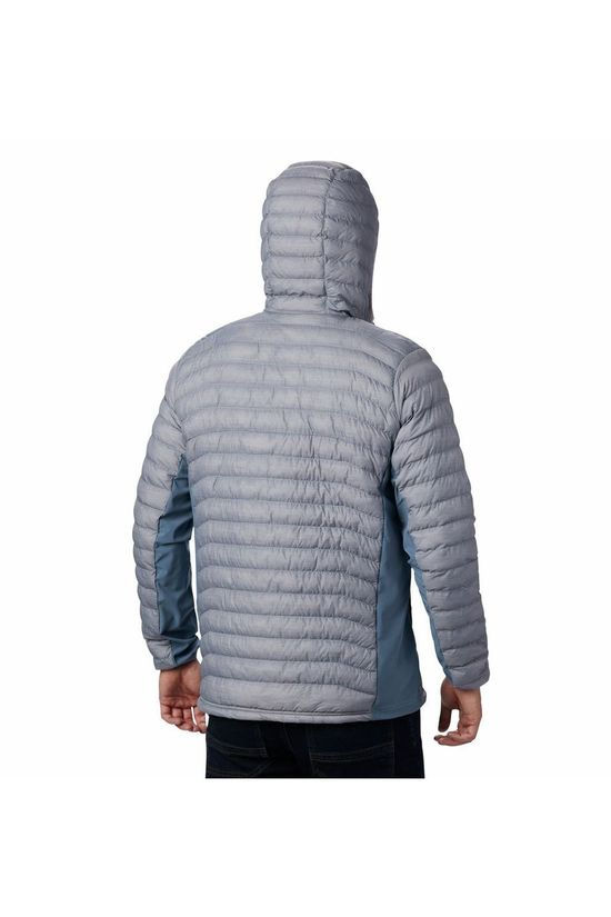 Columbia Jas Powder Lite Hybrid Hooded Lichtgrijs