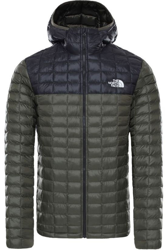 The North Face Jas Thermoball Eco Hoodie Donkerbruin/Zwart